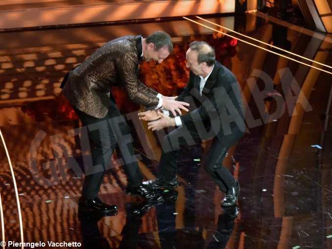 Sanremo2020-Amadeus e Benigni