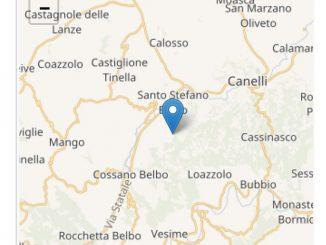 Terremoto di magnitudo 1.6 con epicentro a Santo Stefano Belbo