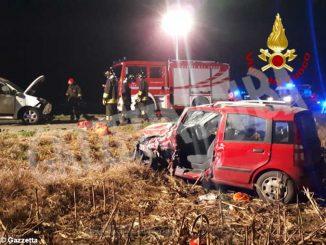 Incidente frontale fra due auto, ieri sera, a Cavallermaggiore