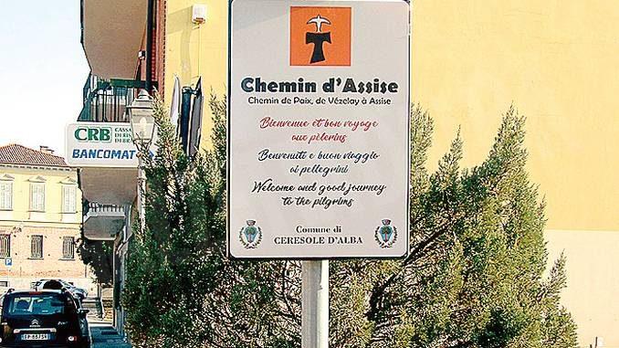 Segnaletica rinnovata sul cammino di Assisi a Ceresole