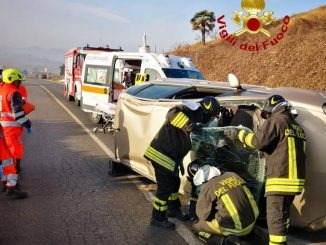 Incidente stradale tra Corneliano e Vezza