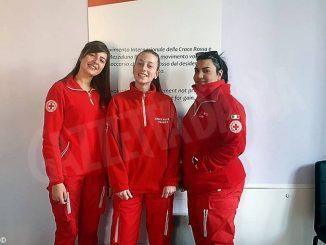 Tre ragazze del Servizio civile universale prestano  la loro attività a titolo gratuito per la Croce rossa