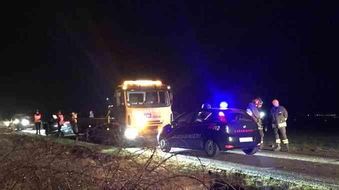 Tre veicoli coinvolti in un incidente fra Narzole e Cherasco