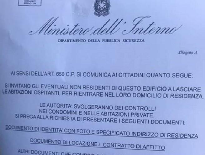 La preoccupazione dell'Unità di Crisi per un falso volantino del Ministero dell'Interno