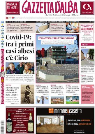 La copertina di Gazzetta d'Alba in edicola martedì 10 marzo