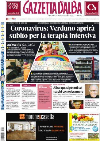 La copertina di Gazzetta d'Alba in edicola martedì 17 marzo