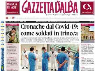 La copertina di Gazzetta d'Alba in edicola martedì 31 marzo