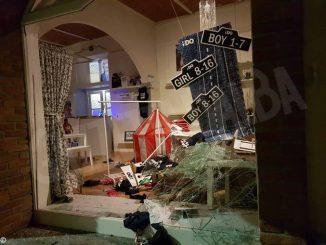 Santo Stefano Belbo: furto con spaccata in un negozio di abbigliamento