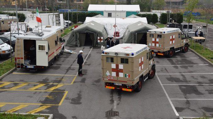 Gli Alpini, in aiuto alla provincia di Bergamo, monteranno in una settimana il loro ospedale da campo
