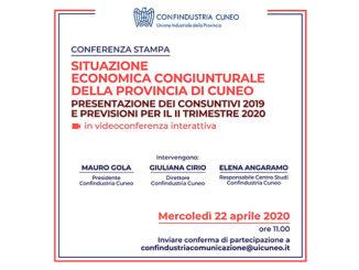 Confindustria Cuneo presenta la situazione economica congiunturale cuneese: appuntamento il 22 aprile in videoconferenza