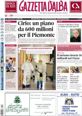 La copertina di Gazzetta d'Alba in edicola sabato 11 aprile