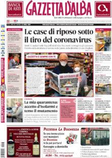 La copertina di Gazzetta d'Alba in edicola martedì 21 aprile
