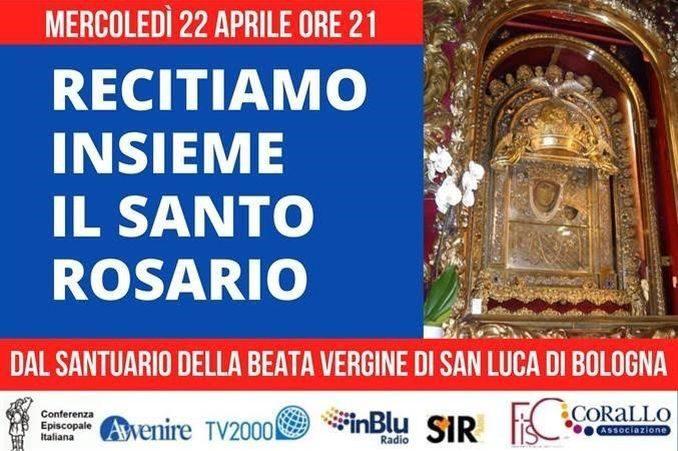Si rinnova anche questa settimana l'appuntamento con il Rosario per l'Italia su Tv 2000