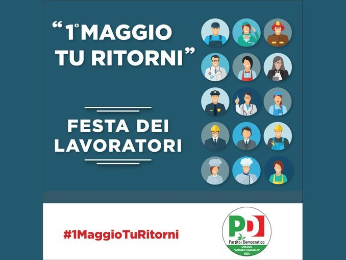 #1MaggioTuRitorni, iniziativa web del circolo Pd di Bra