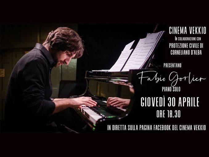 Fabio Gorlier live su Facebook per il Cinema vekkio: al via la raccolta fondi per la protezione civile