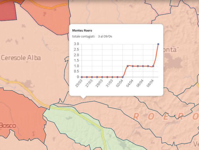 mappa contagio monteu