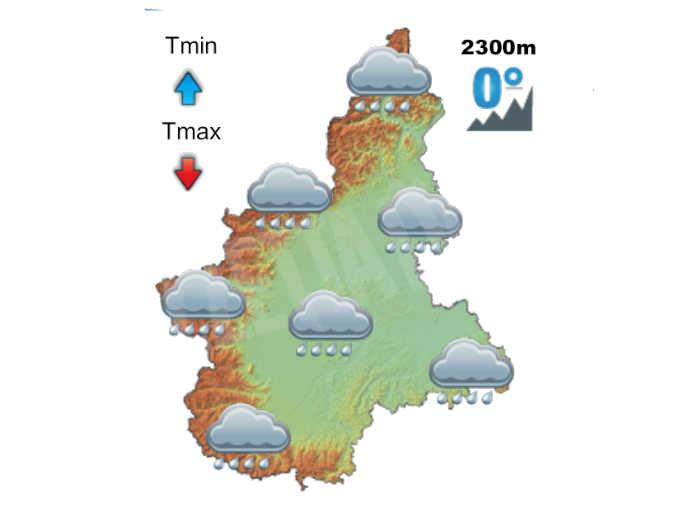 Siccità: pioggia attesa in Piemonte nelle prossime 48 ore