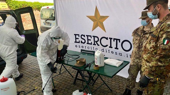 Coronavirus Piemonte, iniziate le sanificazioni delle case di riposo da parte degli alpini, lunedi arriveranno 25 infermieri militari