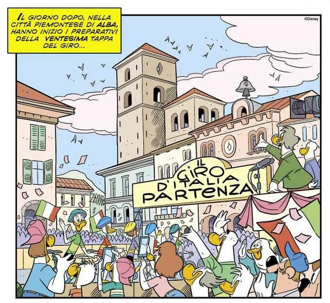 Topolino N° 3366 arriva in Piemonte con una vignetta dedicata ad Alba 1