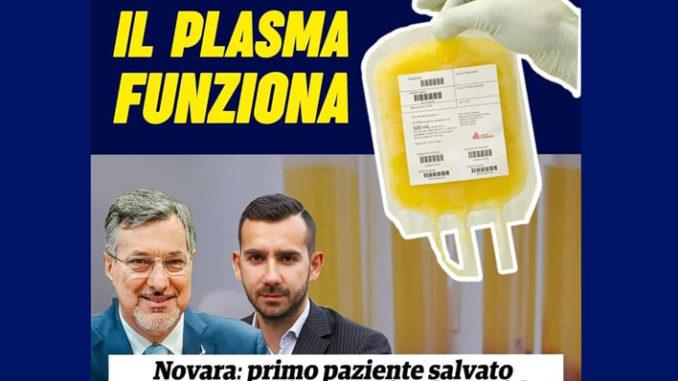 Coronavirus: assessore Piemonte, paziente salvato con plasma
