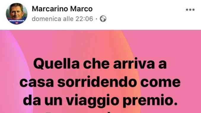 L'assessore Marcarino di nuovo nella bufera per i post su Facebook