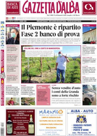 La copertina di Gazzetta d'Alba in edicola martedì 5 maggio