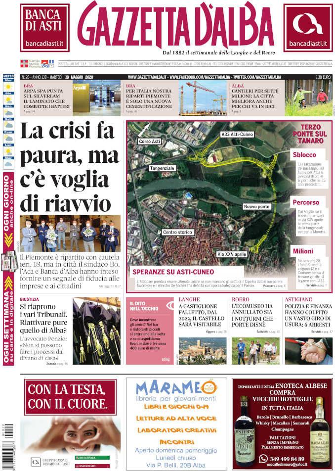 La copertina di Gazzetta d'Alba in edicola martedì 19 maggio