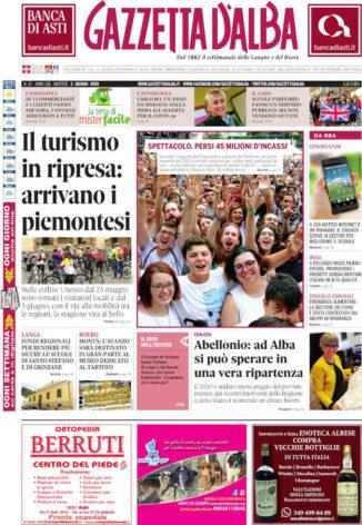 La copertina di Gazzetta d'Alba in edicola lunedì 1° giugno