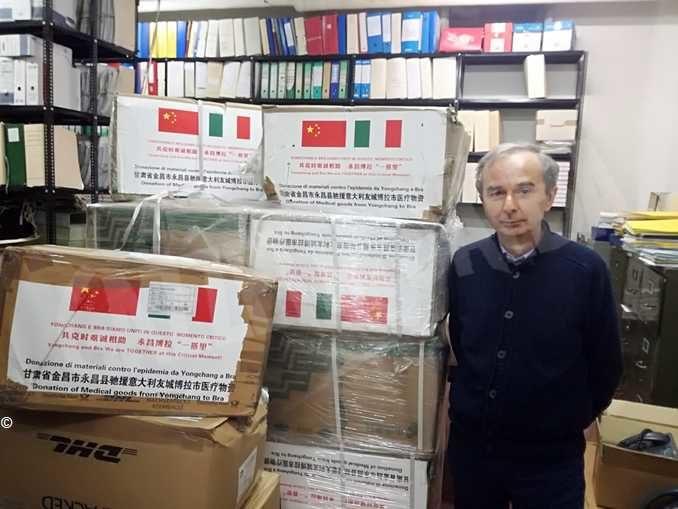Dalla Cina a Bra 20mila mascherine dalla contea cinese gemellata