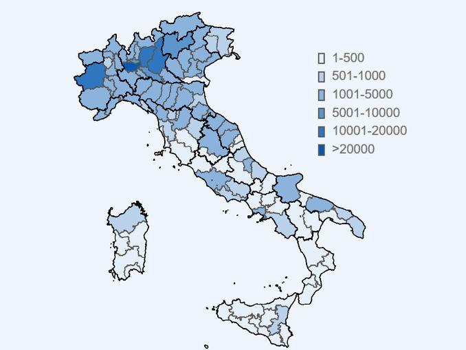covid mappa province 13maggio