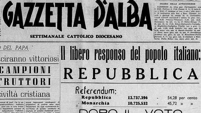 Storia: referendum '46, Langhe e Roero fedelissimi al re 1