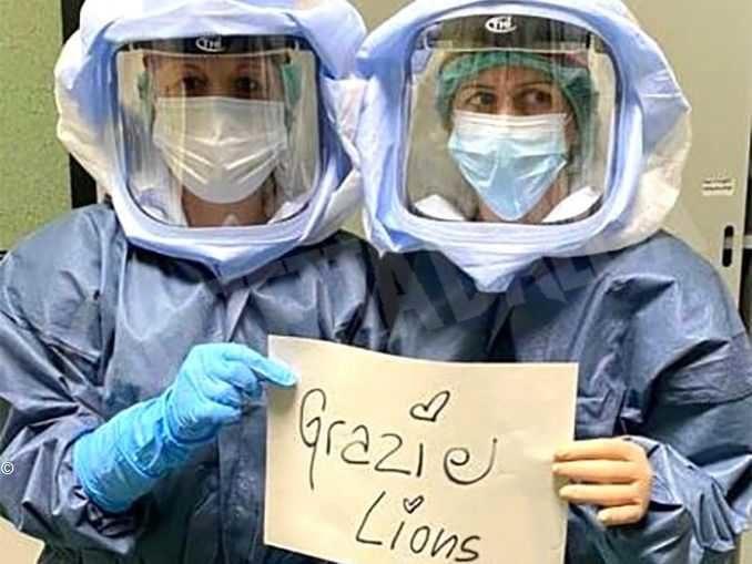 Dai Lions italiani quasi 5 milioni di euro per battere il coronavirus