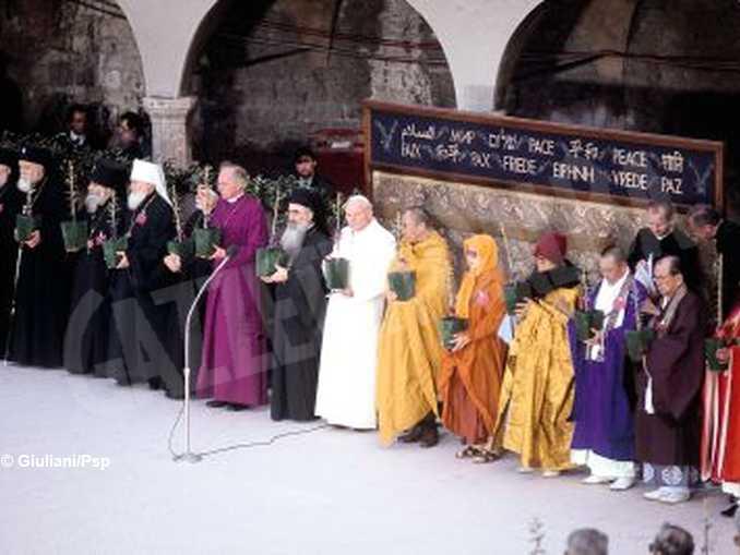 incontro delle religioni ad assisi – foto giuliani