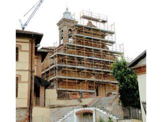Rodello: il cantiere della parrocchiale diventa il simbolo della Fase 2