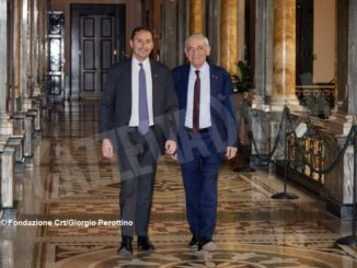 Il presidente di fondazione Crt Giovanni Quaglia e il segretario generale Massimo Lapucci.