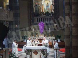 Messa del Giovedì santo al santuario della Moretta