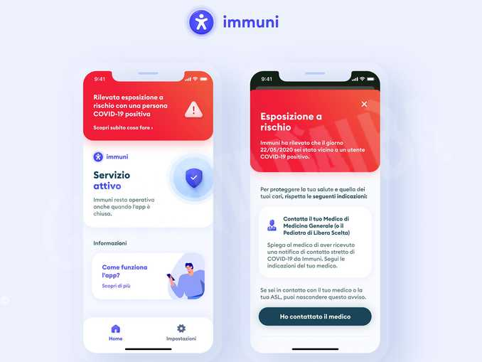 Immuni-schermate