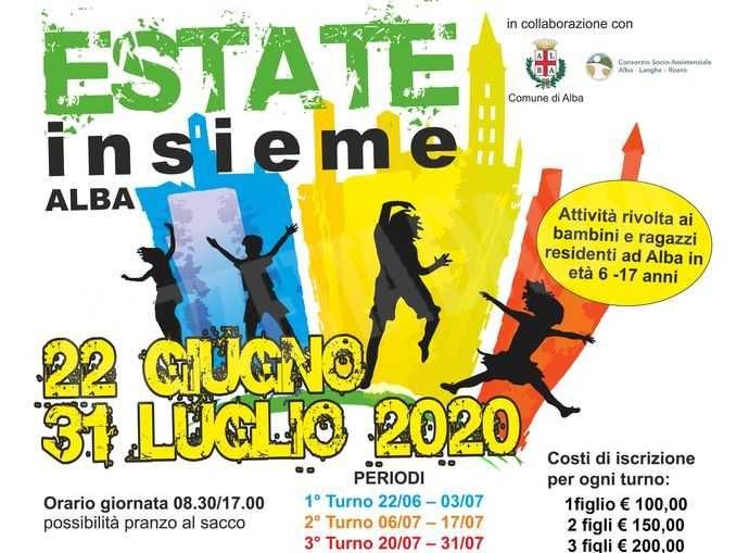 Attività estive per i ragazzi ad Alba: scrizioni dal 12 al 15 giugno 1