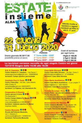 Attività estive per i ragazzi ad Alba: scrizioni dal 12 al 15 giugno