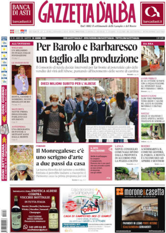 La copertina di Gazzetta d'Alba in edicola martedì 16 giugno