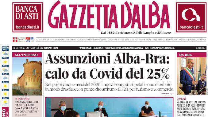 La copertina di Gazzetta d'Alba in edicola martedì 30 giugno
