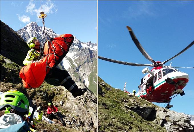 Soccorso alpino a Balme incidente del 21 06 2020
