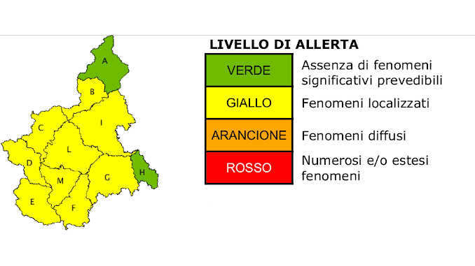 Maltempo, anche oggi previsti forti temporali. Allerta gialla in gran parte del Piemonte