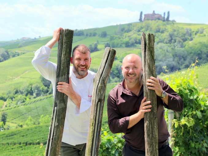 chef Francesco Oberto con Stefano Chiarlo