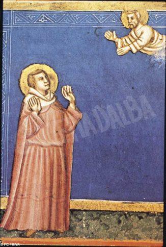 Dio appare al profeta Geremia, da una miniatura del XIV secolo (Vienna, Biblioteca nazionale).