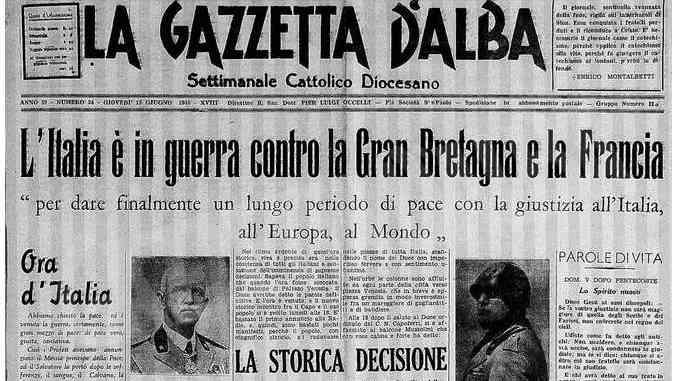 Bra, 10 giugno 1940: parte la pugnalata alla schiena della Francia