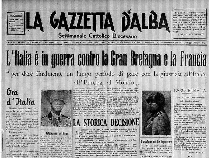 pagina gazzetta 1940