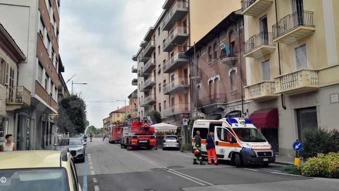 Intervento di Vigili del fuoco e 118 in via Alberione ad Alba