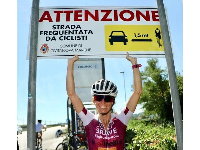 Il giro del Piemonte di Paola Gianotti per la sicurezza dei ciclisti 3
