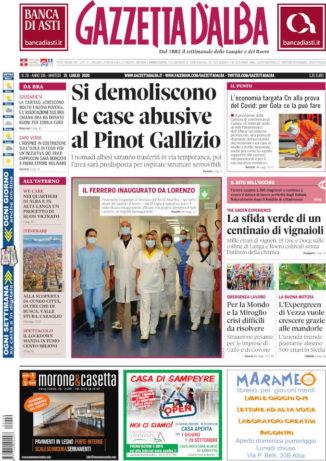 La copertina di Gazzetta d'Alba in edicola martedì 21 luglio
